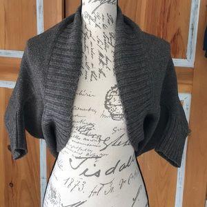 Lanvin, virgin wool blend shrug bolero cardigan